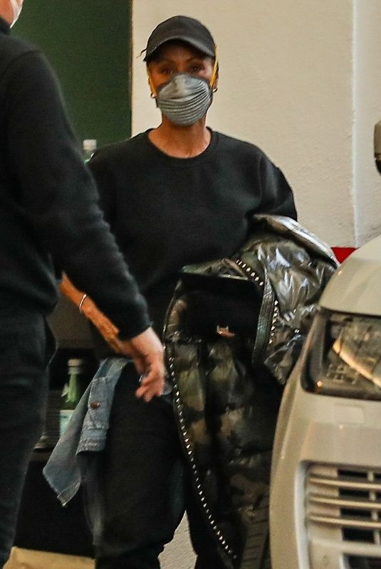 JADA PINKETT SMITH Out and About in Beverly Hills 02/25/2021