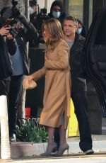 JENNIFER ANISTON Arrives at The Morning Show in Los Angeles 02/09/2021