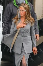JENNIFER ANISTON on the Set of Morning Show in Los Angeles 02/09/2021