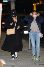 JENNIFER MEYER and MAEVE REILLY at Matsuhisa in Beverly Hills 02/23/2021