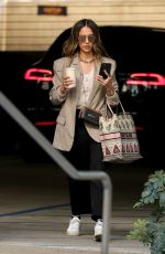 JESSICA ALBA Arrives at Her Office in Los Angeles 02/25/2021