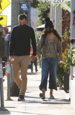 JORDANA BREWSTER and Mason Morfit at Caffe Luxxe in Brentwood 02/25/2021