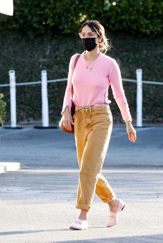 JORDANA BREWSTER Out at Country Mart in Brentwood 02/26/2021