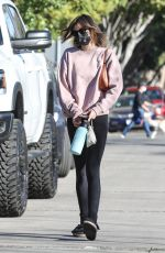 KAIA GERBER Heading to Pilates Class in West Hollywood 02/23/2021
