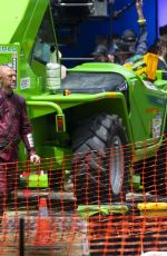 KAREN GILLAN on the Set of Thor: Love and Thunder in Sydney 02/01/2021