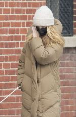 KATE BOCK Shows off Engagement Ring Out in New York 02/12/2021