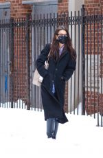KATIE HOLMES Out in New York 02/02/2021
