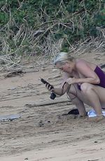 KATY PERRY in Swimsuit at a Beach in Hawaii 02/22/20212021