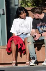 KEKE PALMER at Blue Bottle in Hollywood 02/21/2021