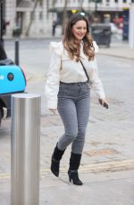 KELLY BROOK Arrives at Global Radio in London 02/19/2021