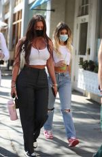 KELSEY CALEMINE and ANASTASIA KARANIKOLAOU  Out in Beverly Hills 02/24/2021