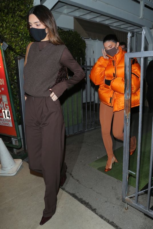 KENDALL and KYLIE JENNER at Giorgio Baldi in Santa Monica 02/02/2021