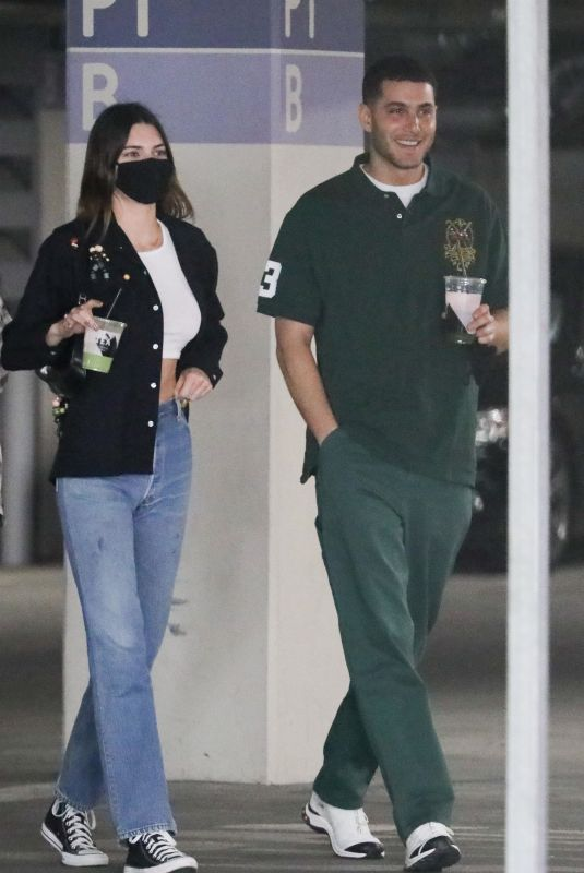 KENDALL JENNER and Fai Khadra Out in Los Angeles 02/26/2021