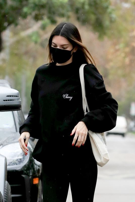KENDALL JENNER Leaves Pilates Class in West Hollywood 02/01/2021