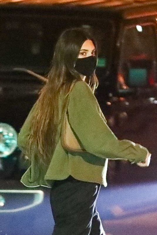 KENDALL JENNER Out Dinner in Los Angeles 02/10/2021