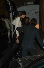 KENDALL JENNER Out for Dinner with HAILEY and Justin BIEBER in Los Angeles 02/19/2021