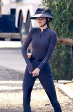 KENDALL JENNER Out Horseback Riding in Malibu 02/11/2021