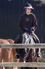KENDALL JENNER Out Horseback Riding in Malibu 02/15/2021