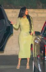 KIM KARDASHIAN Out for Dinner in Beverly Hills 02/24/2021