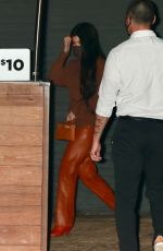 KOURTNEY KARDASHIAN Out for Dinner at Nobu in Malibu 02/22/2021