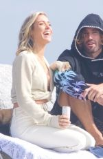 KRISTIN CAVALLARI and Brody Jenner Out on the Beach in Malibu 02/09/2021