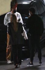 KYLIE JENNER and ANASTASIA KARANIKOLAOU Out for Dinner with Friends in West Hollywood 02/10/2021