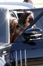 KYLIE JENNER Arrives to Her Private Jet in Los Angeles 02/05/2021