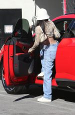 KYLIE JENNER in Denim at Matsuhisa Sushi Restaurant in Beverly Hills 02/23/2021