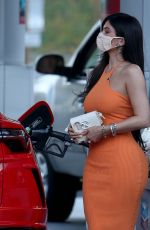 KYLIE JENNER in Tight Dress at a Gas Station in Bel Air 02/22/2021