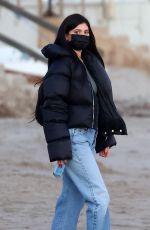 KYLIE JENNER Out at a Beach in Santa Barbara 02/14/2021