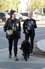 LALA KENT and KATE MALONEY Out in Los Angeles 02/04/2021