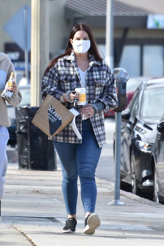 LANA DEL REY Out for Coffee in Studio City 02/02/2021