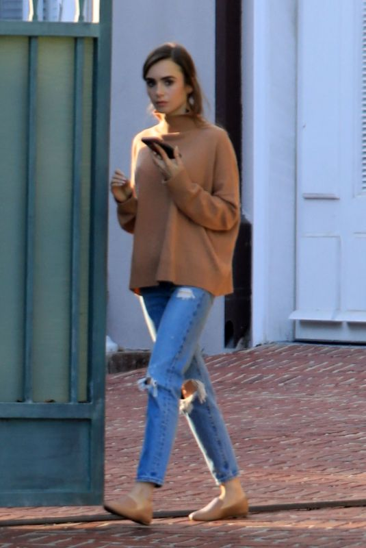 LILY COLLINS Out and About in Beverly Hills 02/04/2021