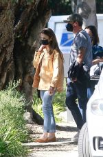 LILY COLLINS Out Visits a Friend in Pasadena 02/06/2021