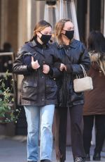 LILY-ROSE DEPP Out with a Friend in New York 02/08/2021