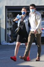 LIV LO and Henry Golding Out for Breakfast in Los Angeles 02/06/2021