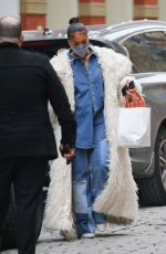 LORU HARVEY Out Shopping in New York 02/15/2021