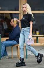 LOTTIE MOSS Leaves S.O.L Cafe in West Hollywood 02/12/2021