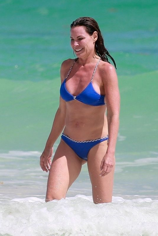 LUANN DE LESSEPS in a Blue Bikini in Tulum 02/24/2021