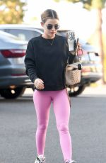 LUCY HALE Arrives at Pilates Class in Los Angeles 02/27/2021