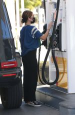 LUCY HALE at a Gas Station in Studio City 02/22/2021