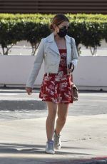 LUCY HALE Leaves a Meeting in Los Angeles 02/25/2021