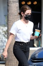 LUCY HALE Out for Coffee in Los Angeles 02/10/2021