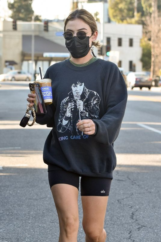 LUCY HALE Out for Coffee in Los Angeles 02/24/2021