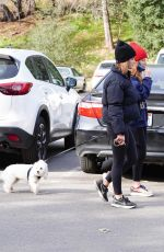 LUCY HALE Out Hiking with Her Dog at Fryman Canyon in Los Angeles 02/15/2021