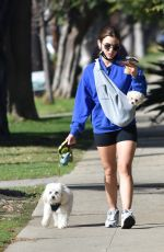 LUCY HALE Out with Her Dogs in Studio City 02/11/2021
