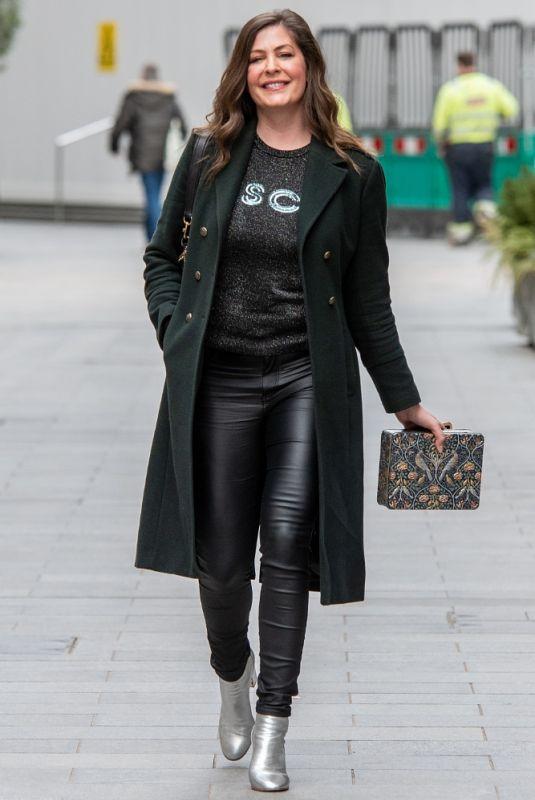 LUCY HOROBIN Leaves Global Studios in London 02/19/2021
