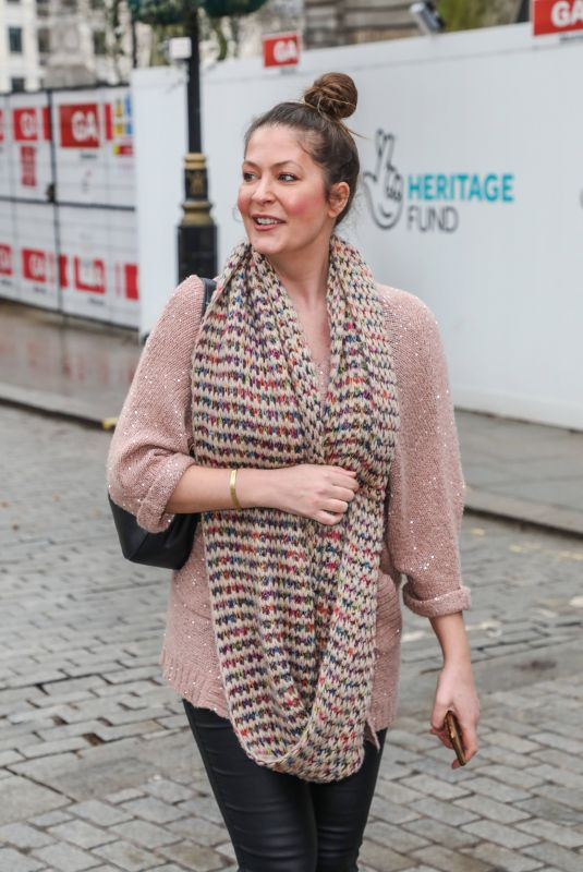 LUCY HOROBIN Arrives at Global Radio in London 02/22/2021