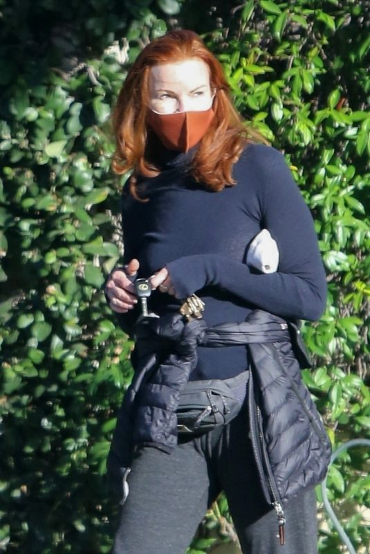 MARCIA CROSS Out in Brentwood 02/19/2021