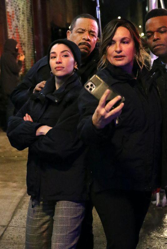 MARISKA HARGITAY on the Set of Law and Order: SVU in New York 02/24/2021